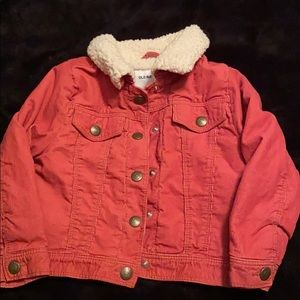Sherpa lined corduroy toddler jacket